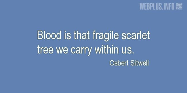 Quotes and pictures for Blood Donor. «Fragile scarlet tree» quotation with photo.