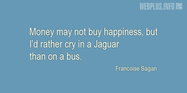Quotes and pictures for Collector Car. «I'd rather cry in a Jaguar» quotation with photo.
