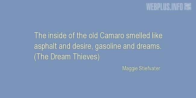 Quotes and pictures for Collector Car. «The old Camaro» quotation with photo.