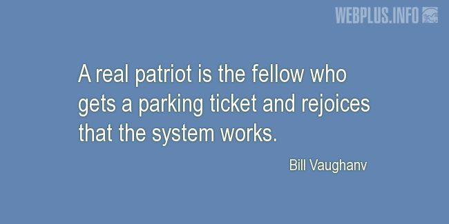 Quotes and pictures for Driving (Funny). «A real patriot» quotation with photo.