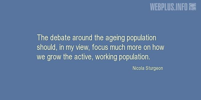 Quotes and pictures for Population. «Focus» quotation with photo.