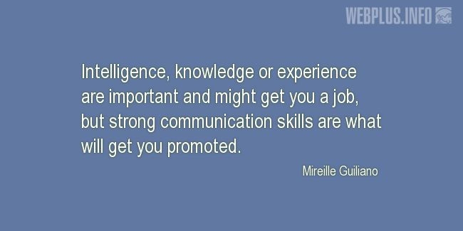 Quotes and pictures for Youth Skills. «Strong communication skills» quotation with photo.