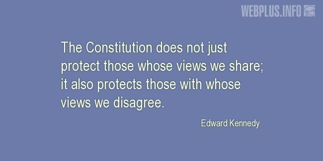 Quotes and pictures for Constitution. «Protection» quotation with photo.