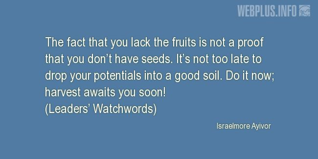 Quotes and pictures for Harvest. «It's not too late» quotation with photo.