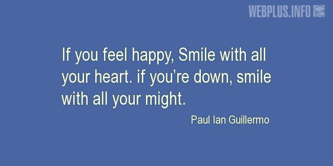 Quotes and pictures for Smile. «If you're down» quotation with photo.