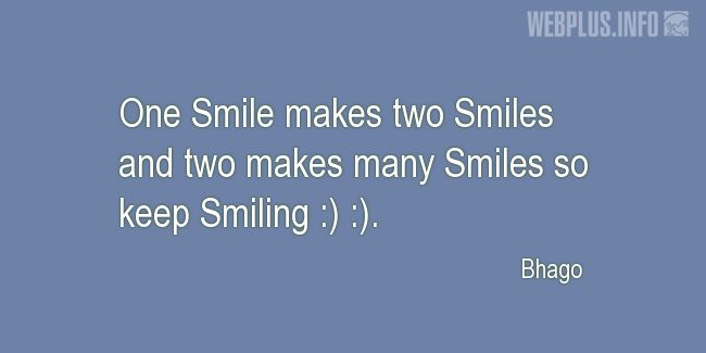 Quotes and pictures for Smile. «Keep Smiling» quotation with photo.