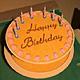 Открытка - Торт на День рождения