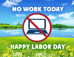 eCard - No work Today