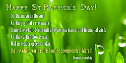 eCard - The whole world is Irish on the Seventeenth o' March
