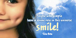 eCard - People with dimple have a divine role in this universe