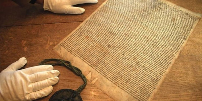 15 June - Magna Carta Day in Britain