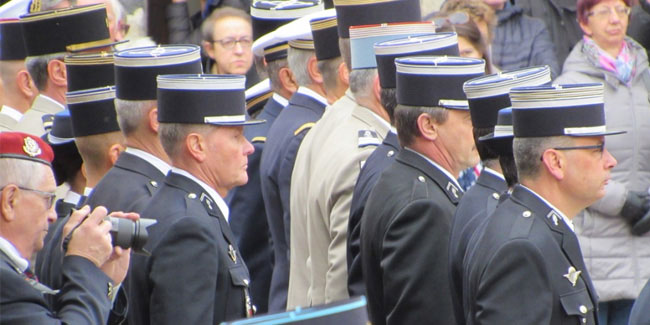16 February - Commemoration of the fallen gendarmerie employees in France