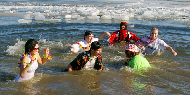 1 January - Polar Bear Swim Day or Polar Plunge Day
