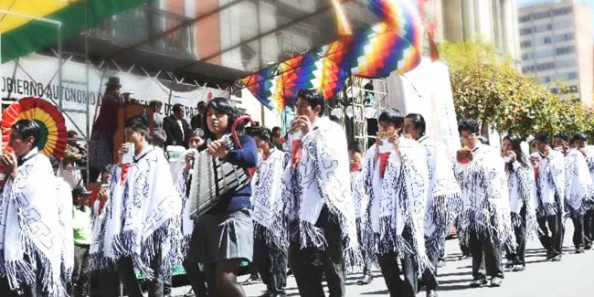 6 August - Independence Day in Bolivia