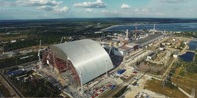 Новый купол над Чернобыльской АЭС